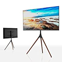 EleTab 三脚架电视显示便携式地板支架高度可调节支架适用于 114.3cm 至 165.1 cm 平板屏幕