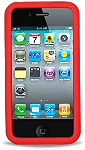 Eagle Cell Hybrid Skin Case for iPhone 4/4S Armor 3-In-1 - Retail Packaging - Black/Red