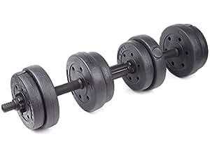 KANSOON 凯速 15KG环保哑铃 家用健身无异味足重手铃 自由组合杠铃 非包胶哑铃专业健身器材7.5kg*2只 带连接杆