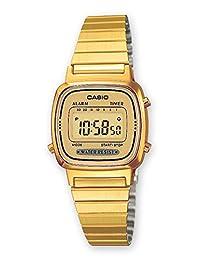 Reloj casio chapado dig. 女 指针 石英 钟表 同 不锈钢 镯子 LA670WEGA-9EF