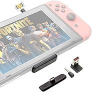 GuliKit Route Air Pro 蓝牙适配器,适用于 Nintendo Switch & Lite 双流蓝牙无线音频发射器,带 aptX LL 支持游戏内语音聊天,连接您的 AirPods
