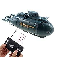 Tipmant 迷你遥控船无线电遥控船速度船防水电动水玩具儿童礼物(蓝色) Blue Submarine M 蓝色