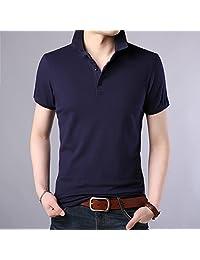 富贵鸟男士t恤纯棉翻领纯色短袖polo衫夏季韩版修身男装休闲保罗衫