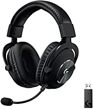 Logitech G PRO X kabelloses Lightspeed PC-kompatibles Gaming-Headset mit Blue VOICE Mikrofontechnologie, 50 mm