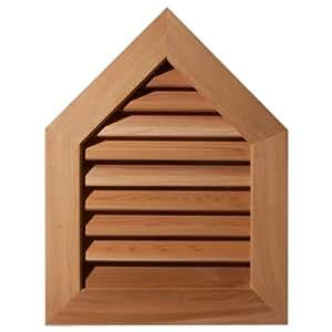 Ekena Millwork GVWPE28X3202RDUPI-05 未抛光、装饰性粗糙松木顶盖气孔和装饰面框
