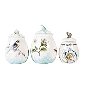 Fitz & Floyd Bloom Canister, Set of 3
