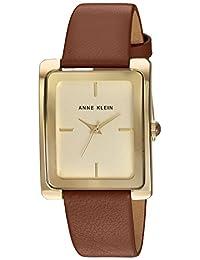 Anne Klein 女士 AK/2706CHHY 金色和蜂蜜色皮革表帶手表