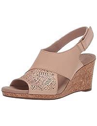 Clarks 女士 Lafley Joy 坡跟凉鞋