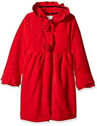 Widgeon 女童抓绒连帽玫瑰衣