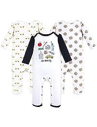 Hudson Baby 婴儿棉质连体服,3 件装