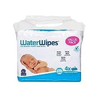 WaterWipes 无香味婴儿湿巾,适合敏感和新生儿皮肤,4包(240片湿巾)