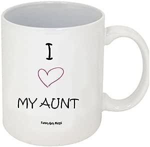Funny Guy Mugs 的 Funny Coffee 马克杯 I Love My Aunt 11 盎司 MUG-81
