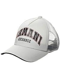 Armani Exchange 阿玛尼 Exchange 男士标志 Patch Trkr-mesh 棒球帽