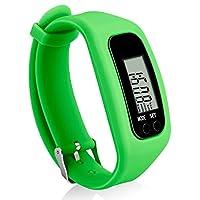 Bomxy 健身追踪手表,简约操作步行计步器卡路里燃烧步数计数(绿色)