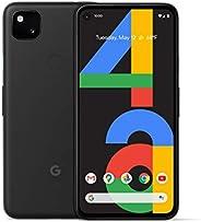 Google 谷歌 Pixel 4a - 全新解锁 Android 智能手机 - 128 GB 存储 - 长达 24 小时电池 - 仅黑色