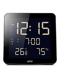 Braun BNC014BK-RC Temperature/Humidity Quartz Wall Clock Black