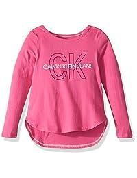 Calvin Klein 女童超大徽标 T 恤