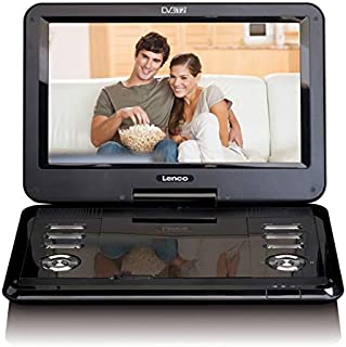 Lenco 便攜式DVD播放器 DVP-1273 11.6 英寸(29 厘米)DVB-T2,12V 車載適配器,USB,SD,AV,耳機插孔