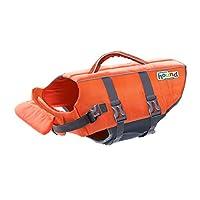 Outward Hound PupSaver Ripstop Dog Life Jacket Quick Release Easy-Fit Adjustable Dog Life Preserver 橙色,黄色,柠檬绿和蓝色 X-S