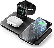 Seneo 3 合 1 无线充电板,AirPods Pro/2 无线充电板,iWatch 5/4/3/2 充电底座,7.5W Qi 快速充电,适用于 iPhone 11/11 Pro Max/SE 2/XS Max/XR