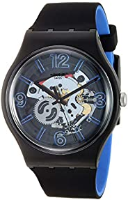 Swatch 男士指針式石英手表,帶硅膠手鐲 SUOB165