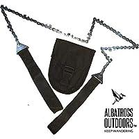 Albatross 户外生存口袋电锯 - Stow and Go 折叠手锯,紧凑,高强度,钢链用于切割木材。 非常适合树木、石灰和柴木