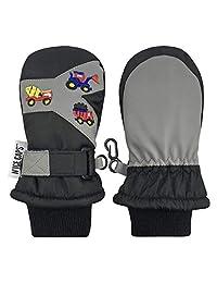 N'Ice Caps 儿童与婴儿新雪丽防水色块滑雪手套