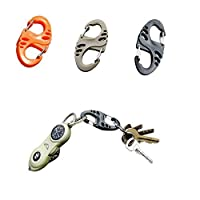 yueton 18 件 50mm 塑料夹扣钩双扣钥匙扣适用于远足/露营/户外钓鱼/背包装备