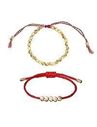 手工制作中性款金属手链藏铜珠手链和金色脚链