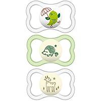 MAM 敏感肌肤安抚奶嘴,16 个月以上婴儿,*适合*喂养宝宝的安抚奶嘴,空气之夜和日间设计系列,男女皆宜,3 只装