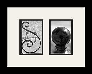 Art to Frames LetterArt-SO-39707-61/89-FRBW26079 字母艺术/字母摄影相框 - SO - 带 2-4x6 开口。 和缎面黑色框架