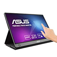 "Asus Zenscreen MB16AMT 15.6"" Full HD Portable Monitor Touch Screen IPS Non-Glare Built-In Battery and Speakers Eye Care USB Type-C Micro HDMI W/ Foldable Smart Case"