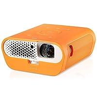BenQ GS1便攜式LED投影機(內置USB讀取器和藍牙,無線顯示,安卓,HDMI,HML,對接電池,短距離,1英寸(約2.5厘米),1公斤,IPX1防濺水)