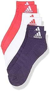 阿迪达斯男士3 - 条纹性能及半袜子 (3双) Rosa (Rosa/weiß/Púrpura) 27W x 30L