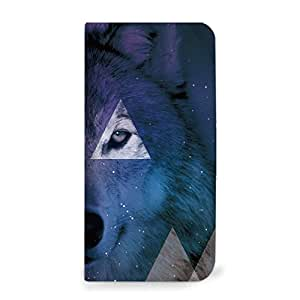 mitas iphone 手机壳520NB-0219-A/KYL21 14_DIGNO S (KYL21) A・オオカミ(ベルトなし)
