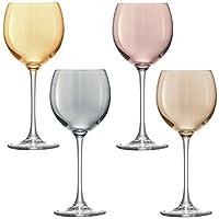 LSA 国际金属波尔卡*杯(4 只装),13.5 液 盎司,多种颜色