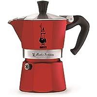 Bialetti 比樂蒂 Moka Color 意式咖啡壺,鋁制,紅色,3杯容量