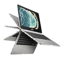 ASUS C302CA-DHM4 翻盖Chromebook 电脑 12.5英寸触摸屏 可旋转Chromebook笔记本 英特尔 Core m3,4GB内存,64GB闪存,全金属机身,USB C型, Corning Gorilla Glass,Chrome OS