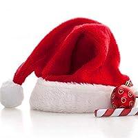 A.Banana圣诞节装饰品圣诞帽 创意幼儿园平安夜礼物 小礼品儿童圣诞帽子 成人超柔圣诞帽 (10个装)