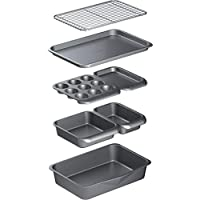 Kitchen Craft MasterClass 智能空间不粘碳钢可叠放烤盘套装(7 件)
