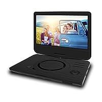 ODYS Furo 便携式 DVD 播放器带22.9厘米 ( 9英寸 ) 旋转显示屏 ( 高分辨率数字 TFT 显示屏 ( 800 x 480像素 ) , SD 卡插槽 , USB 2.0 ) 10 Zoll Schwarz X820025