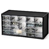 livinbox 桌面文具硬件收纳架多功能储物盒,办公配件,带多抽屉 20 Compartments 黑色 USIOSAmz20181108K7P074