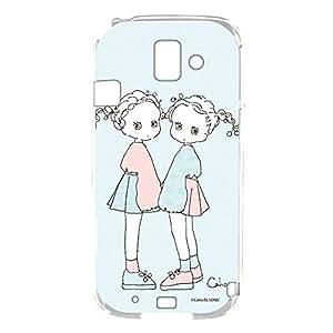 caho 保护套透明 Tpu 印花柔软手机壳适用所有机型  ふわふわC 6_ らくらくスマートフォン2 F-08E