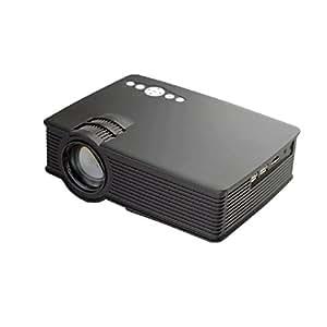 Moveski 轰天炮 GP-9 家用投影仪 高亮度 高流明 家用高清led投影机 梯形校正功能 支持1080P 高分辨率 微型迷你小型 家庭影院 支持手机同屏 高清HDMI接口 -标准版-黑色