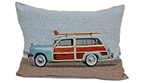 Brentwood Originals 8481 Vintage Woody Toss Pillow, 13 by 18-Inch