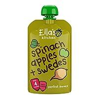 Ella's kitchen 婴幼儿营养辅食—菠菜苹果芜菁甘蓝蔬果泥 120g(进口)