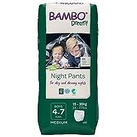 Bambo Nature Dreamy Boy 高级夜裤,年龄 4-7 码中号(33-77 磅/15-35 千克)10件装