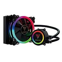 GAMDIAS RGB对应 采用120mm散热器 简易水冷CPU冷却器 CHIONE E1A-120R [国内正规流通品]