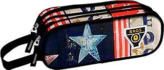 Ranking 双边双包紧凑铅笔盒休闲风格背包,23 厘米,印花