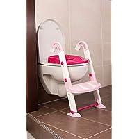 儿童如厕训练器三合一套装 粉红色/白色